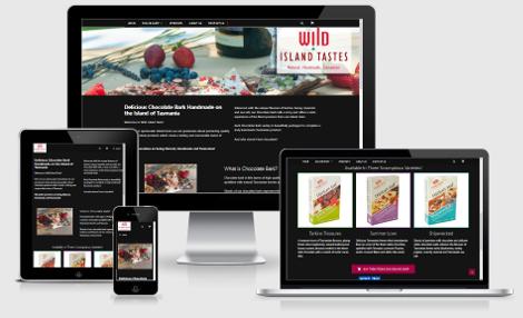 Wild Island Tastes website viewed in various devices