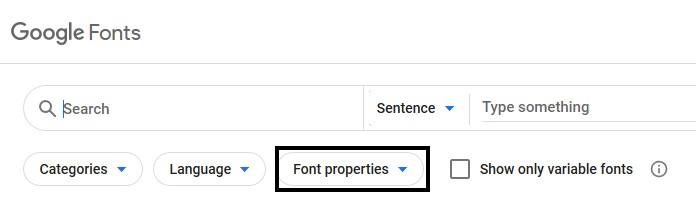 Google fonts website