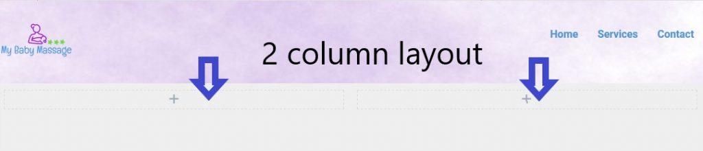 2 column layout