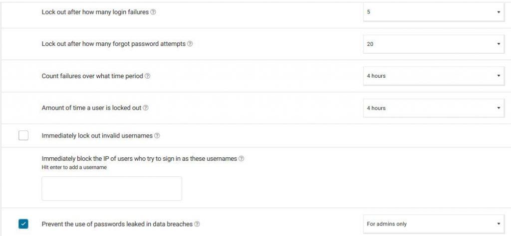 Wordfence WordPress security plugin brute force attack settings