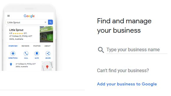 Add your Google profile for business