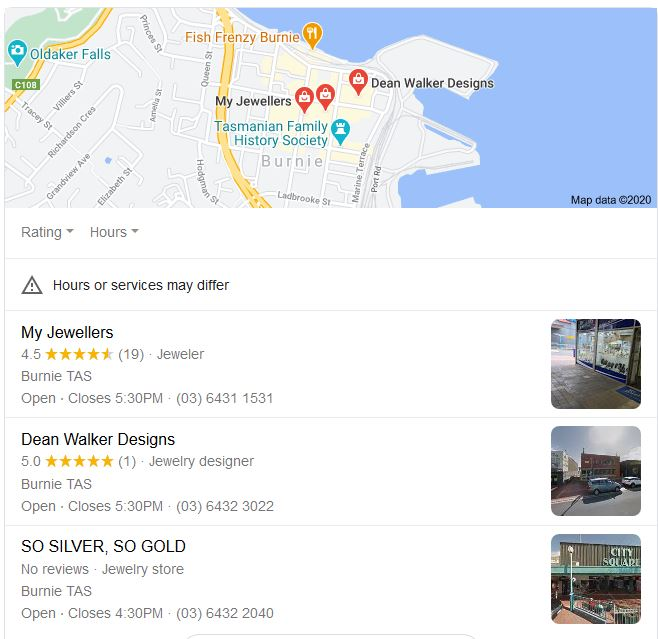 Local Google business listings