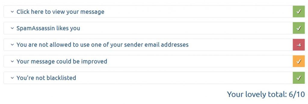 Mail Tester email testing