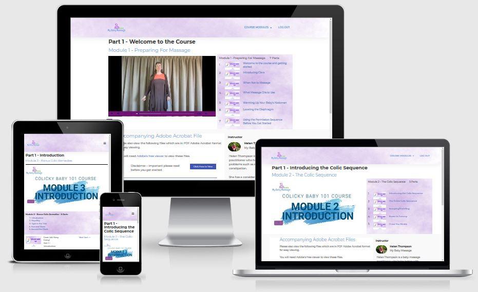 Online course responsive design